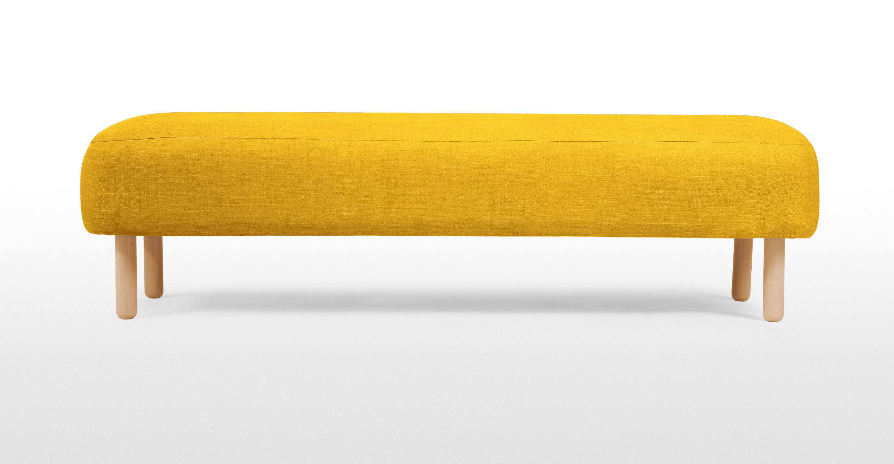 Jonah upholstered bench in dandelion yellow Upholstered benches