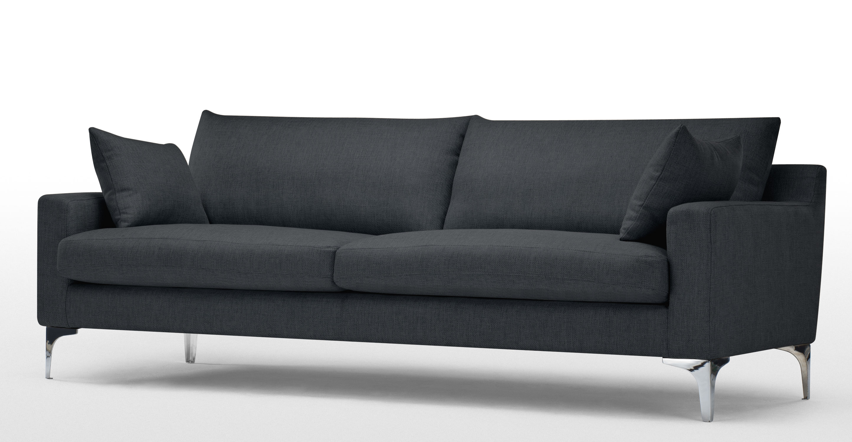 mendini 3 seater sofa in anthracite grey. Black Bedroom Furniture Sets. Home Design Ideas