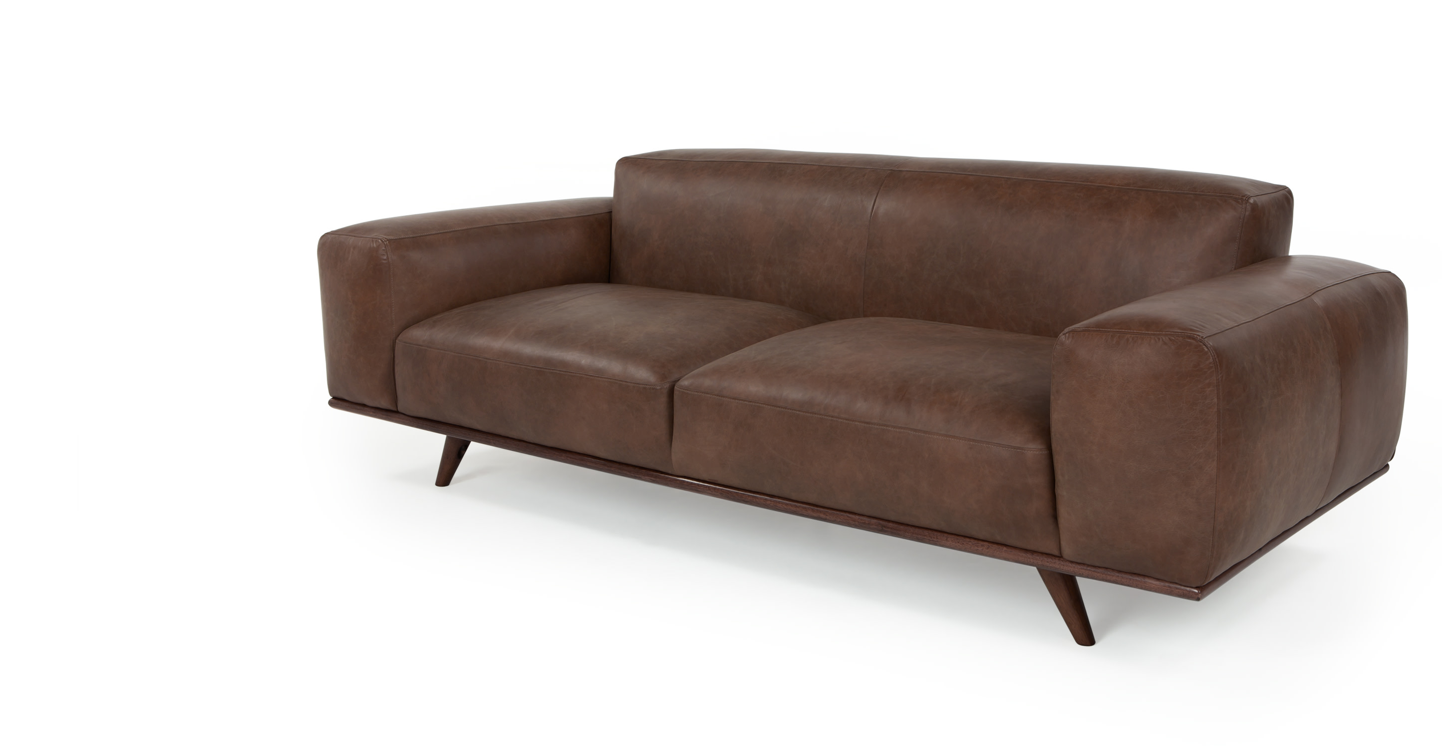 Otto 3 Seater Sofa In Tan Premium Leather
