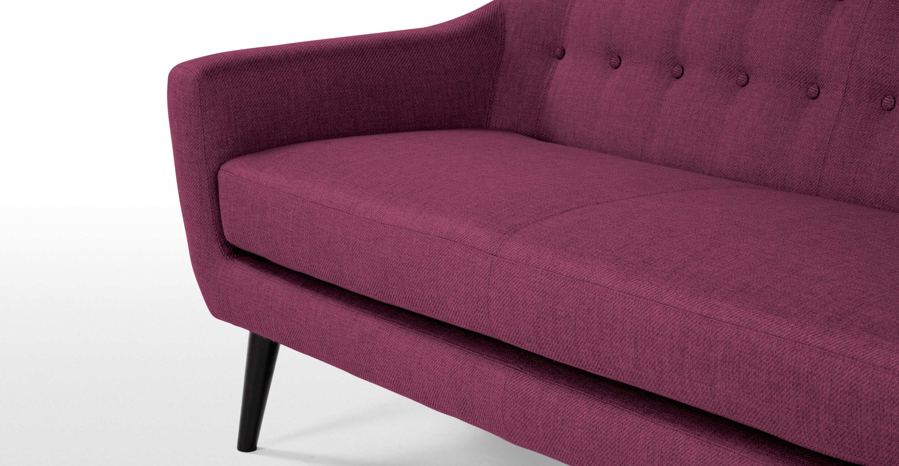 Ritchie 3 Seater Sofa Plum Purple