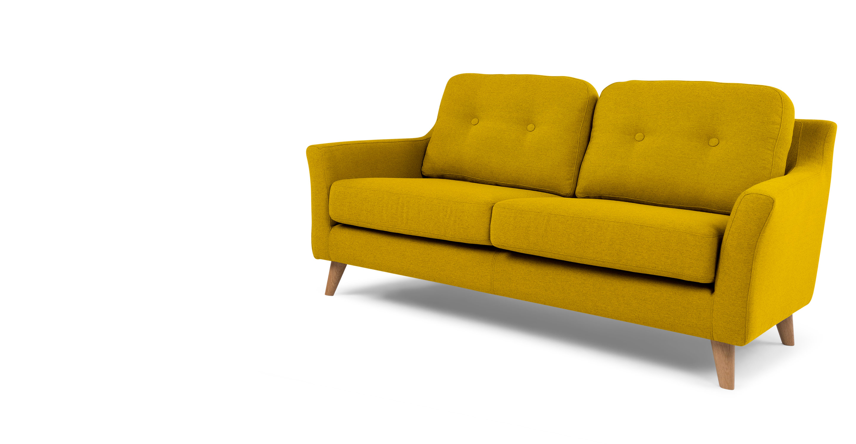 rufus 2 seater sofa mustard yellow. Black Bedroom Furniture Sets. Home Design Ideas