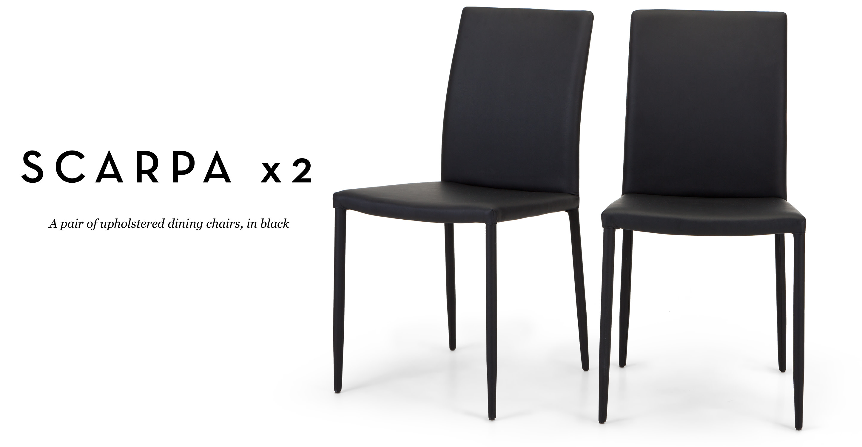 Pair of scarpa dining chairs in black for Made dining chairs