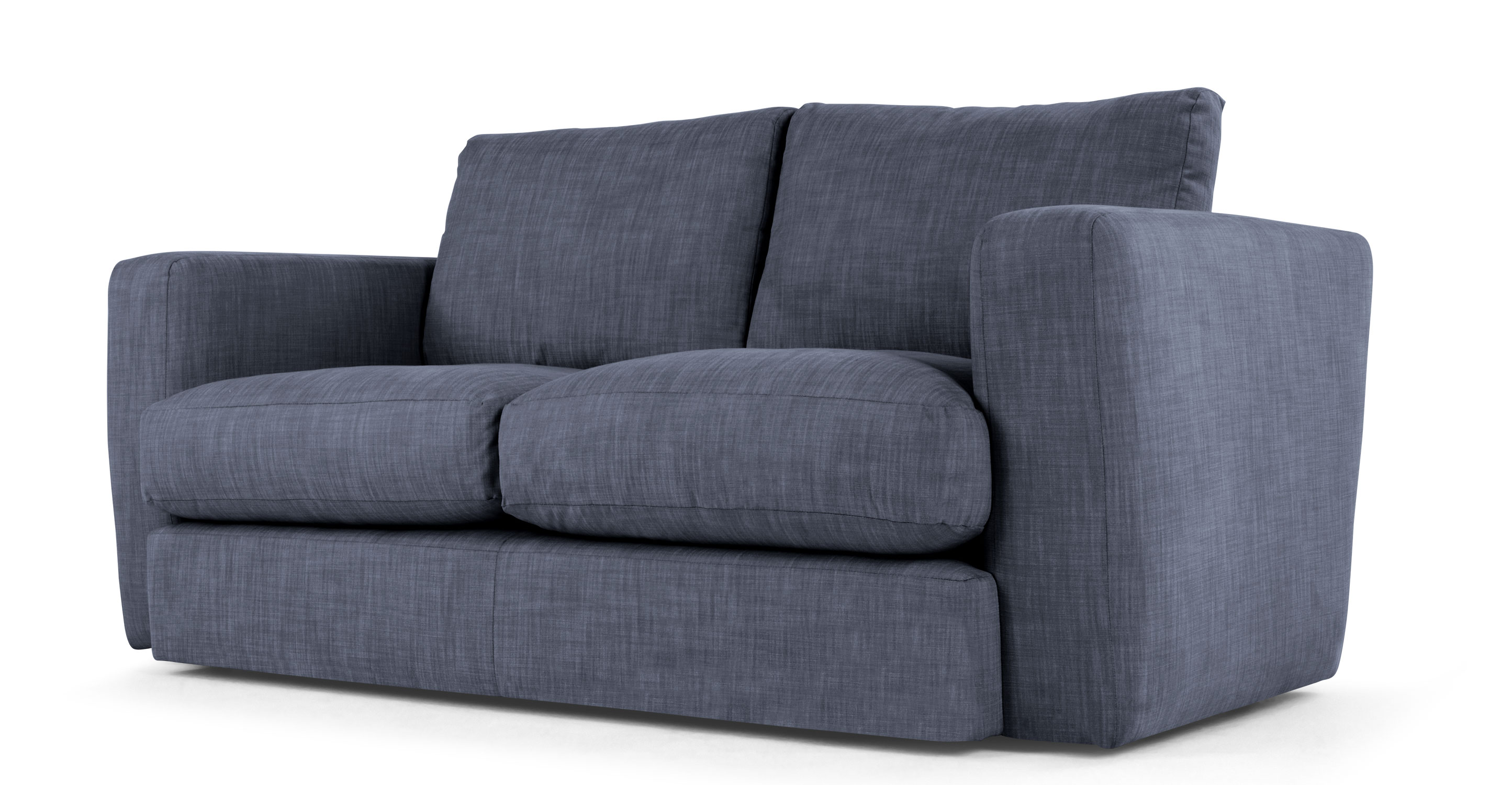 Walter 2 seater sofa denim Denim loveseat