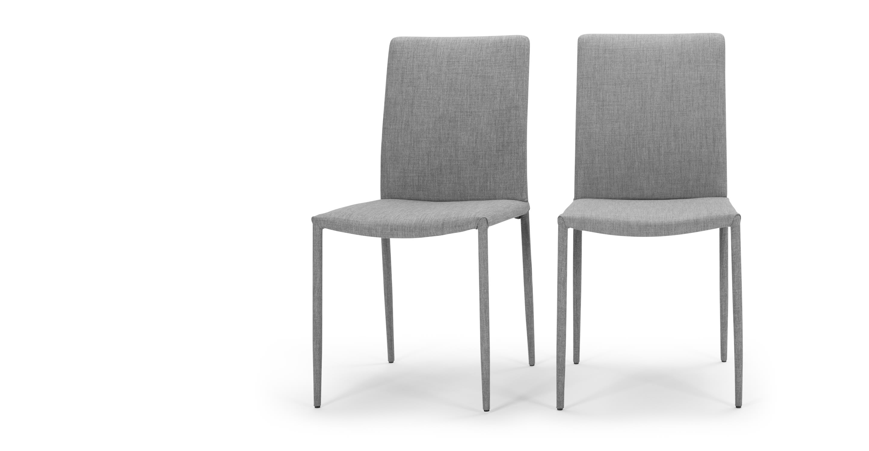 2 x braga dining chairs cathedral grey for Made dining chairs