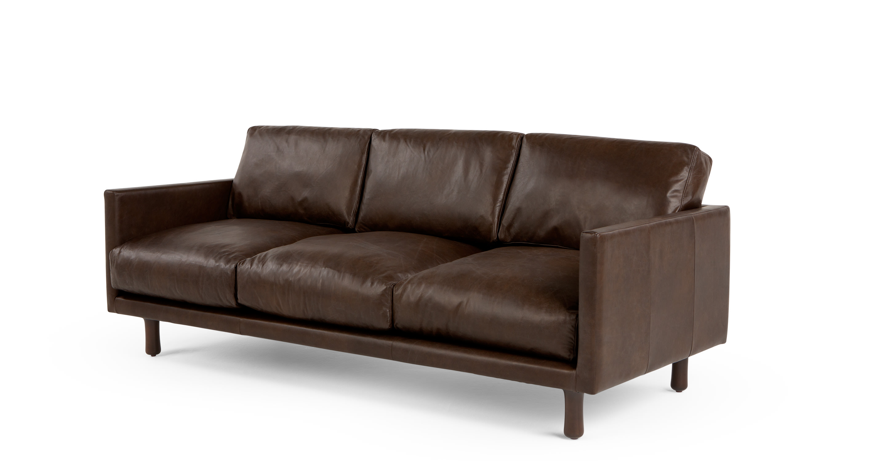 Carey 3 Seater Sofa Vintage Brown Premium Leather