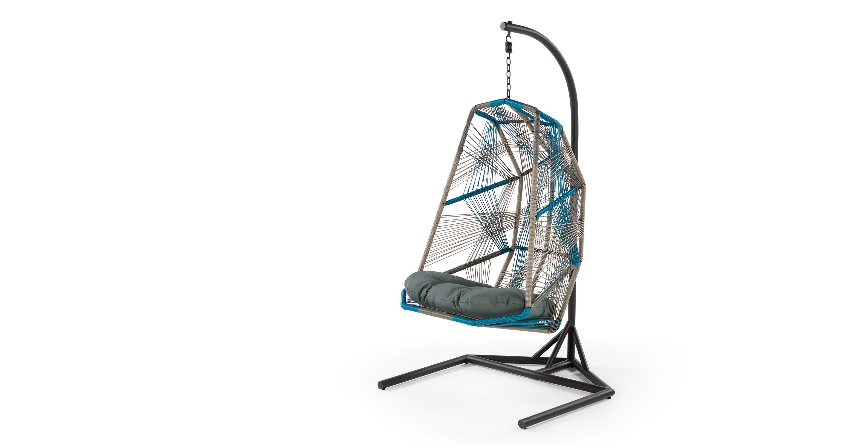 Copa hanging chair cool blue for Ez hang chairs instructions