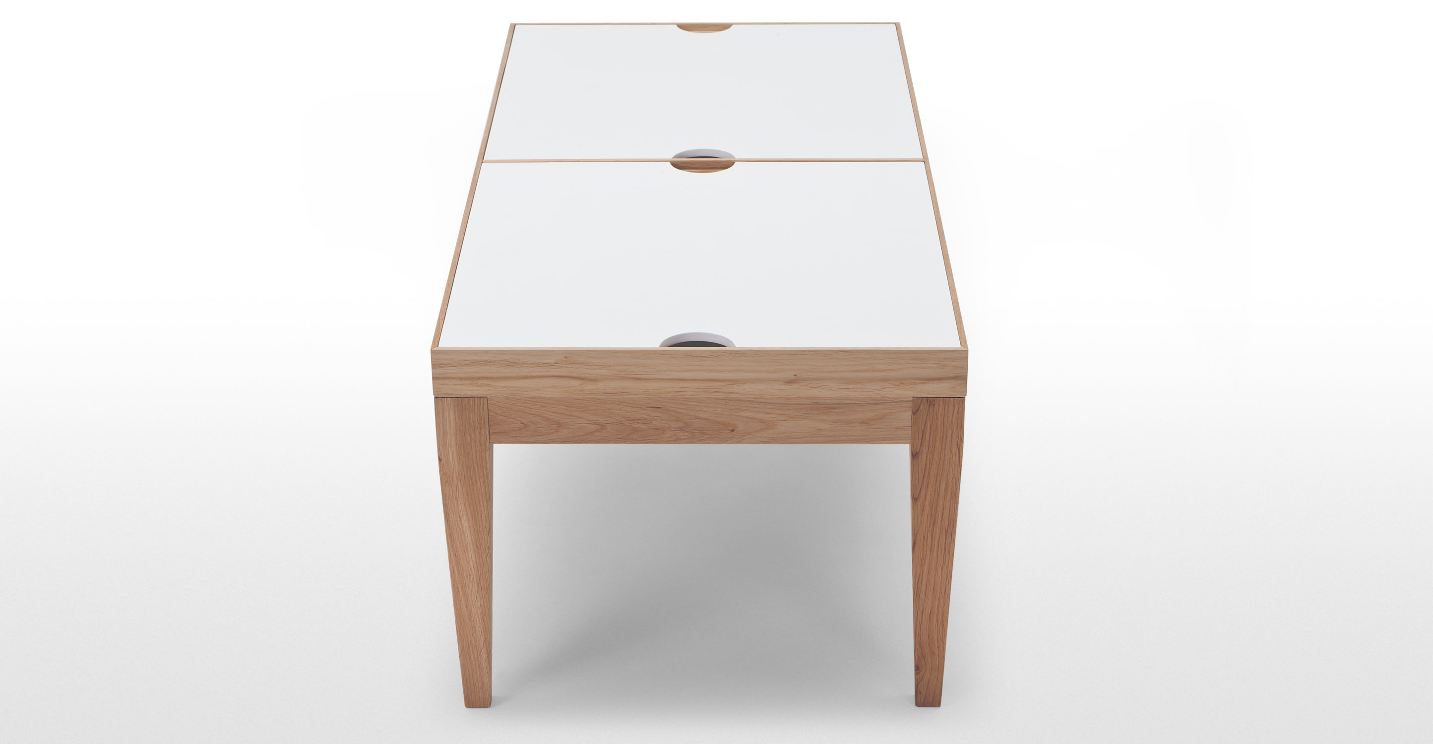 Dorig Oak Coffee Table With Storage In White