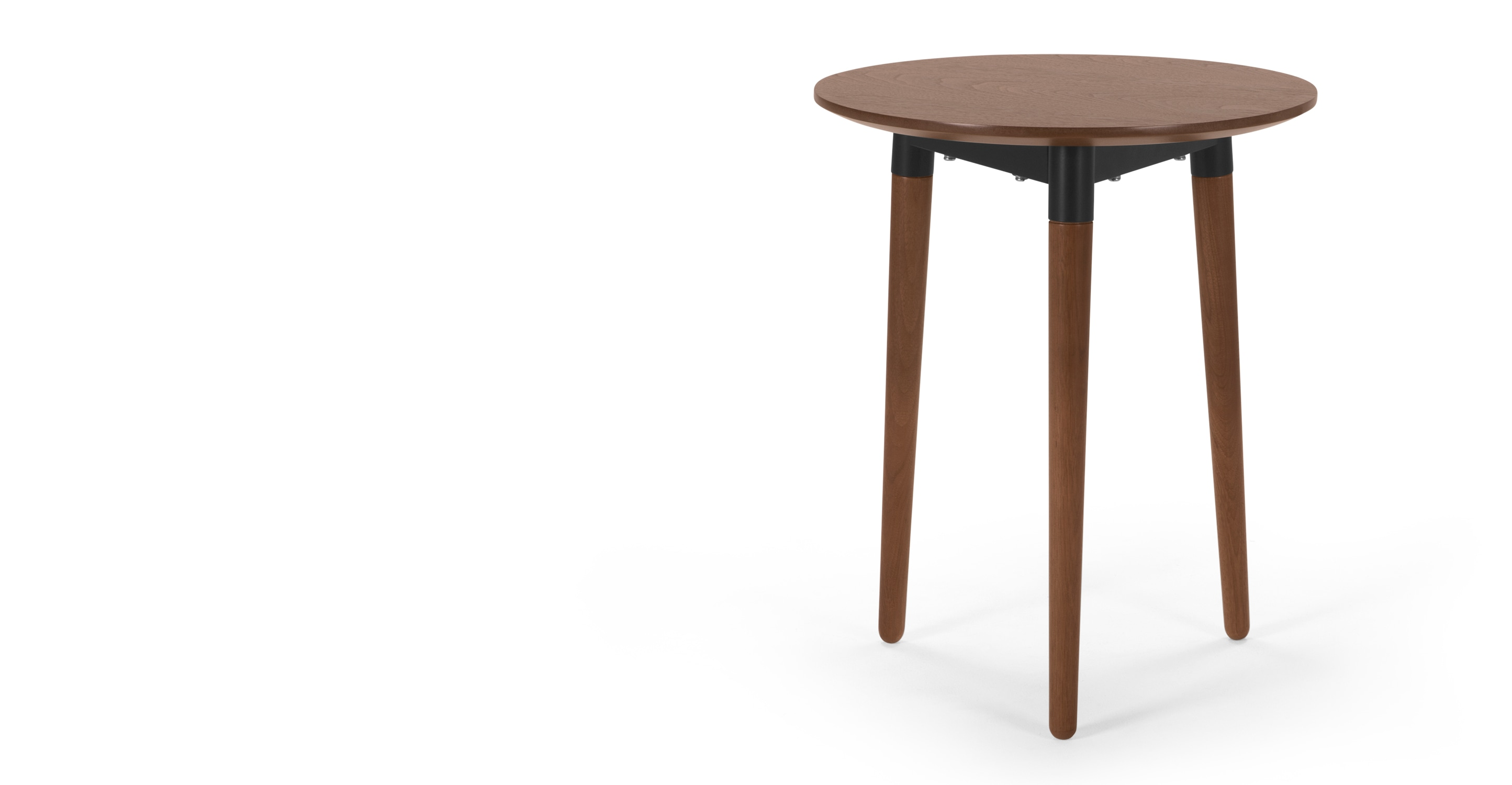 Edelweiss side table walnut and black for Walnut side table