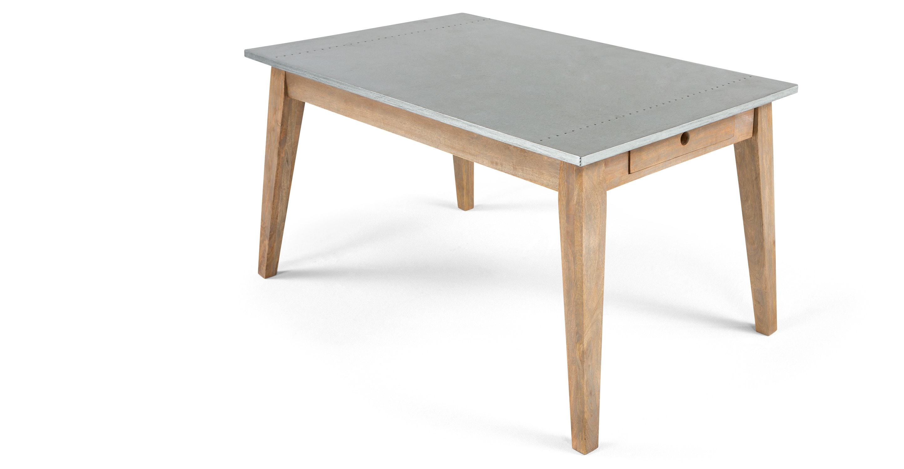 Fawn dining table zinc for Table exterieur zinc