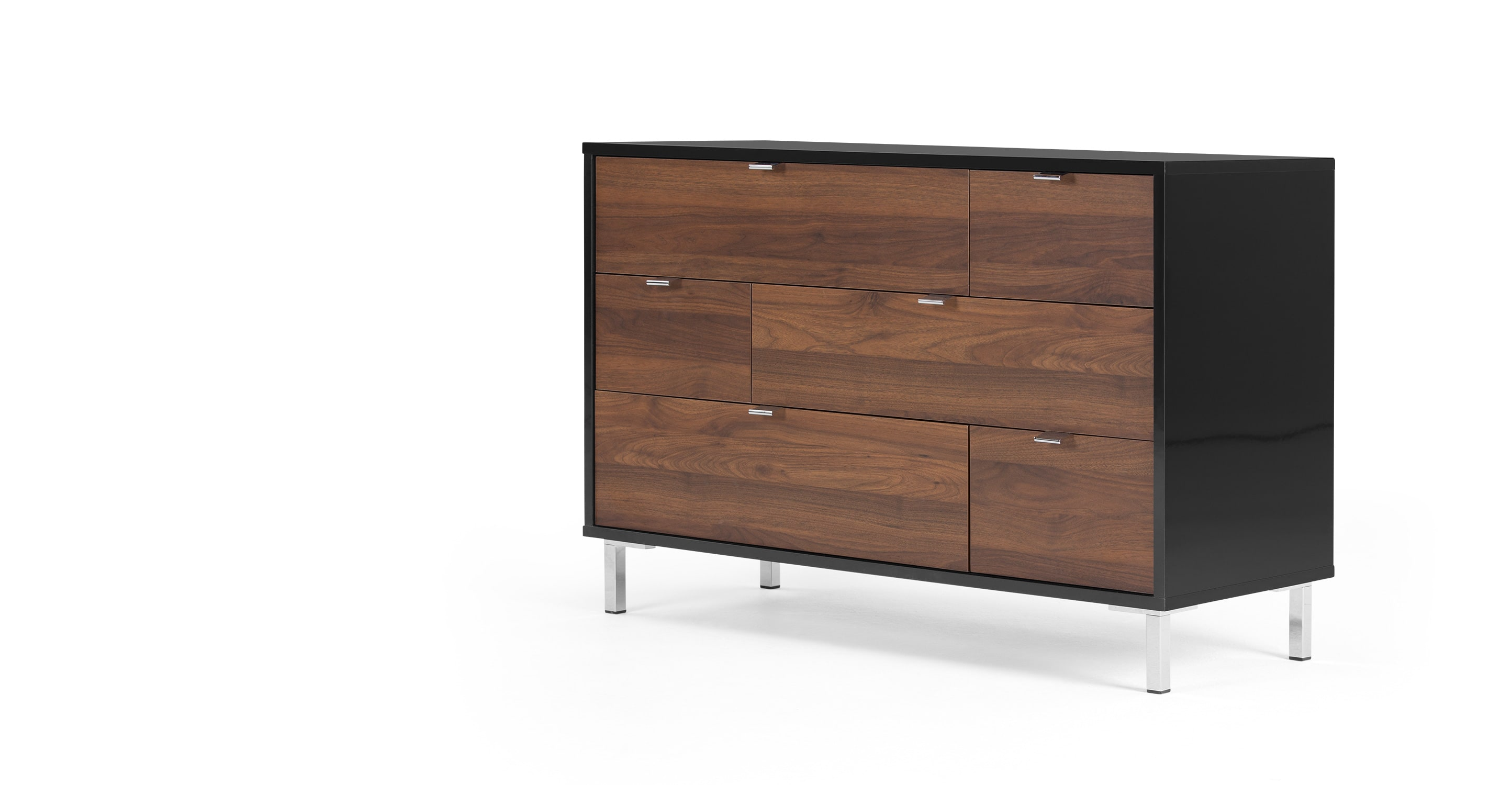 Latymer Multi Chest Of Drawers Walnut Effect And Black
