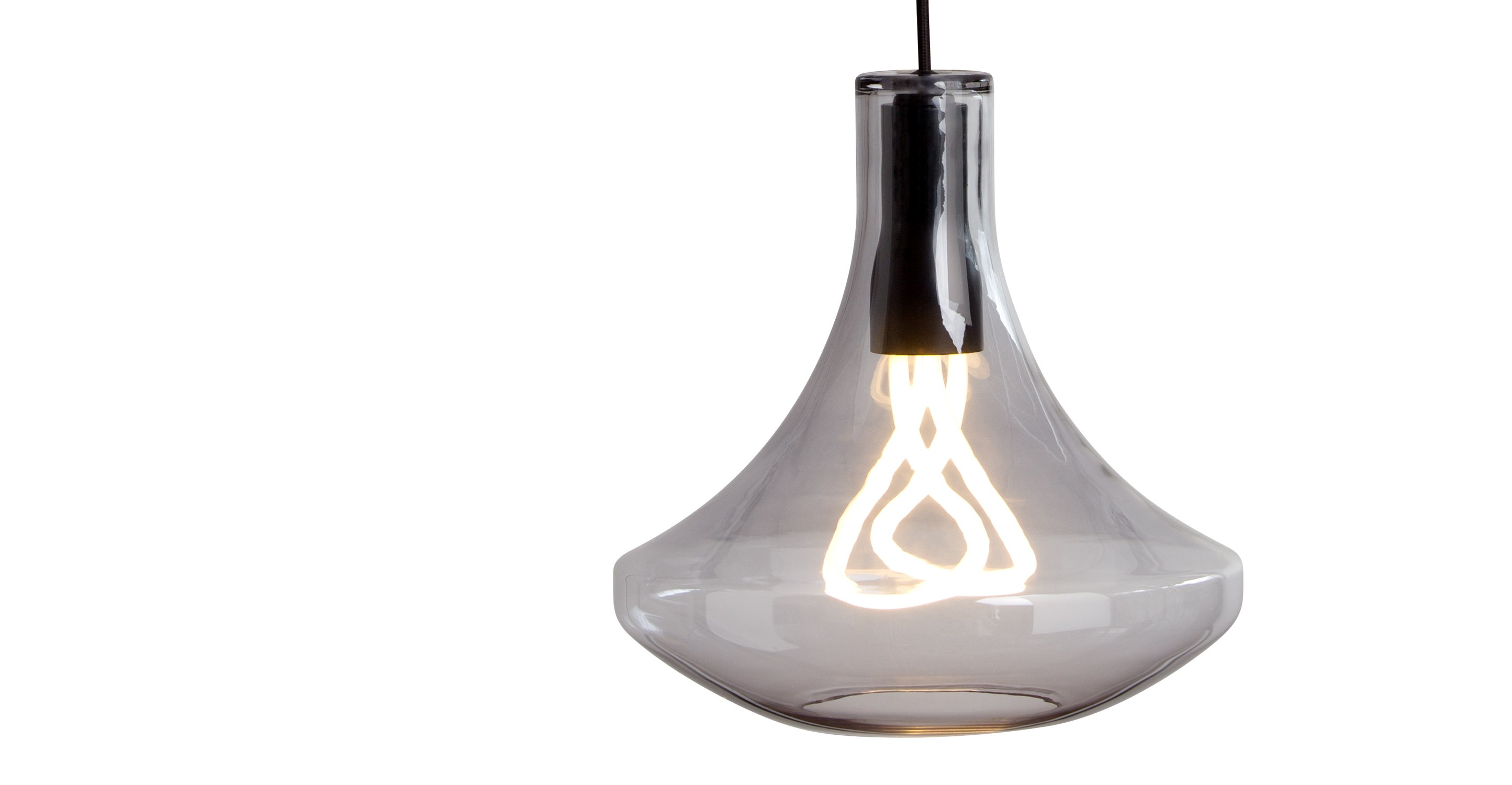 plume pendant lamp and plumen 001 bulb smoke grey. Black Bedroom Furniture Sets. Home Design Ideas