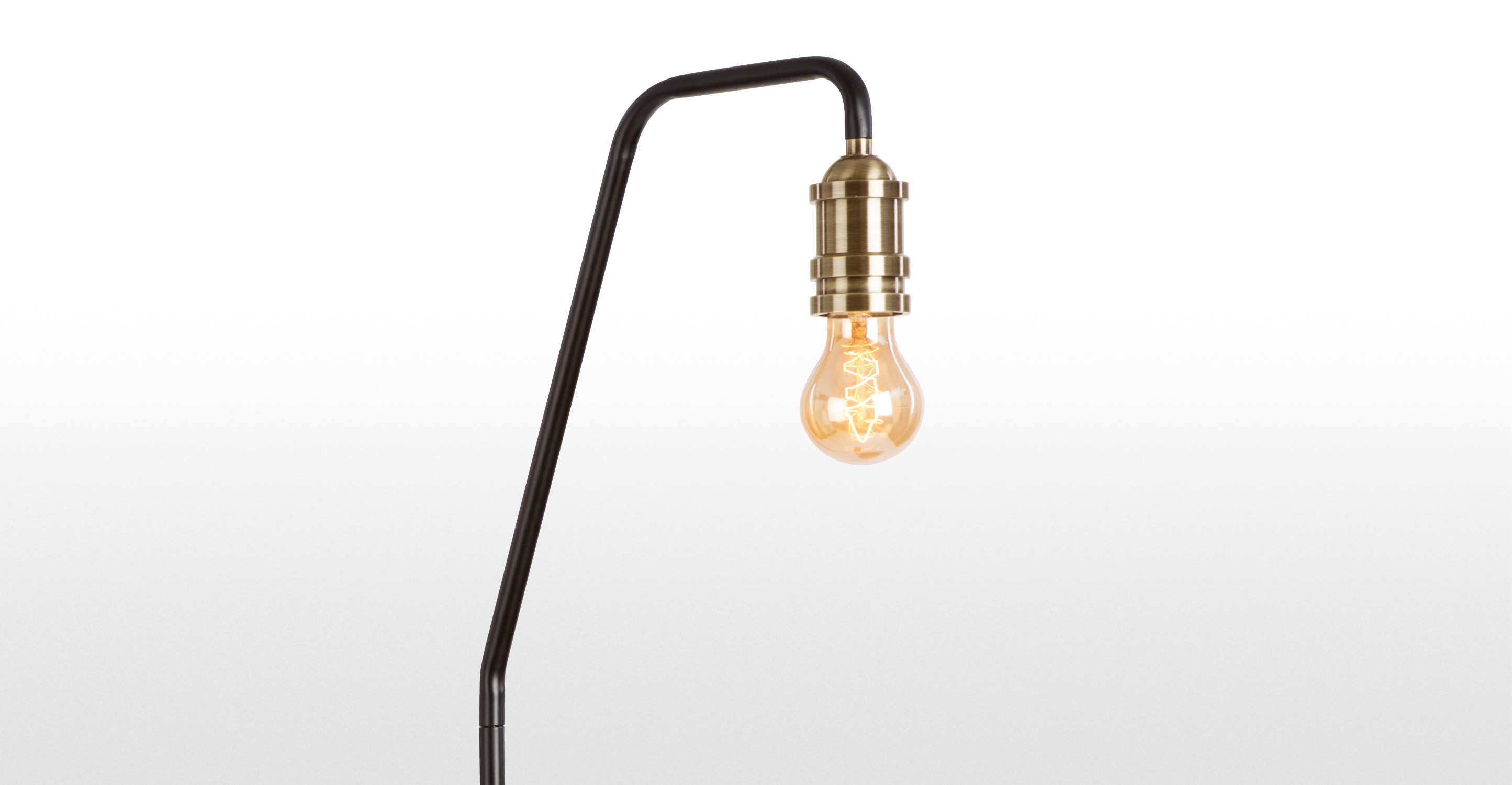 Starkey Floor Lamp, Black and Brass made.com