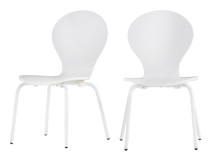 2 x Mini Kitsch Chairs, White