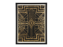 Ellis Art Deco II Gilt Print, 40 x 55cm, Limited Edition by Coup D'Esprit, Gold and Black