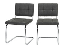 2 x Aston Dining Chairs, Raven  Black