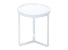 Aula Side Table, White