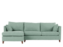 Bari Left Hand Facing Corner Storage Sofa Bed, Malva Aqua