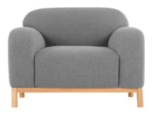 Brady Armchair, Whisper Grey Wool Mix