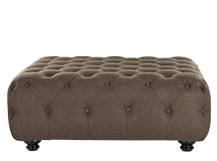 Branagh Large Ottoman, Nutty Brown