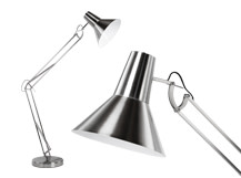 Bronx Giant Floor Lamp, Brushed Chrome