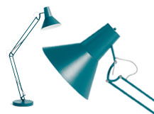 Bronx Giant Floor Lamp, Matt Teal
