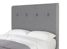 Capri Double Headboard, Wolf Grey