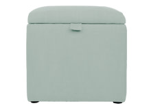 Capri Upholstered Storage Box, Cambridge Blue
