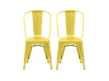2 x Legend Café chairs, Yellow