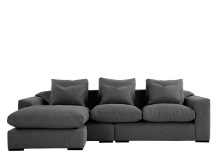 Christian Large Corner Sofa, Charcoal Weave