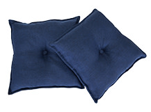 2 x Clowe Square Scatter Cushions 45 x 45cm, Prussian Blue