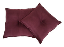 2 x Clowe Square Scatter Cushions 45 x 45cm, Fig Purple