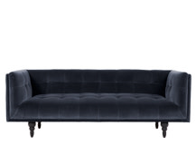 Connor 3 Seater Sofa, Navy Cotton Velvet
