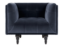 Connor fauteuil, donkerblauw fluweel
