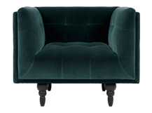Connor Armchair, Petrol Cotton Velvet