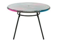 Copa Outdoor Dining Table, Spectrum Pink