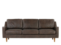 Dallas 3 Seater Sofa, Oxford Brown Premium Leather