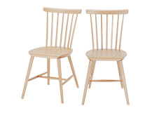 2 x Deauville Dining Chairs, Ash