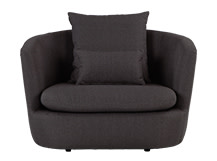Demi Love Seat, Iron Grey