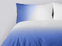 Dipped 200TC Egyptian Cotton Bed Set, Delft Blue