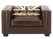 Edward Jack Armchair, Vintage Brown