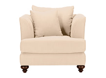 Elliott Armchair, Parchment Beige Cotton Mix