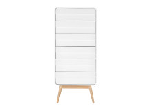 Esme Tall Chest, White and Ash