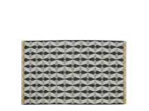 Etruria Flat Weave Rug 120 x 180cm, Ash Grey and Chartreuse