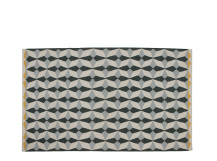 Etruria Flat Weave Rug 160 x 230cm, Ash Grey and Chartreuse