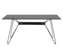 Fass Dining Table, Black and Grey