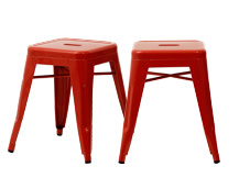2 x Legend Café Stools, Red