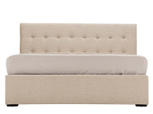 Finlay Kingsize Bed with Storage, Biscuit Beige