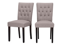 2 x Flynn Dining Chairs, Pewter Grey
