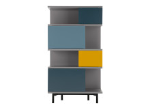 Fowler Tall Shelving Unit, Multicolour
