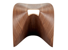Fuji Stool, Walnut